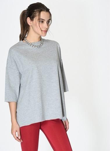 Loves You Kısa Kol Mevsimlik Sweatshirt Gri